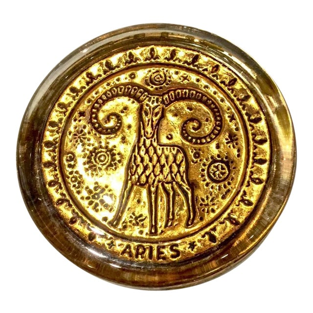 Mid-20th Century Venetian Zodiac Paperweights For Sale
