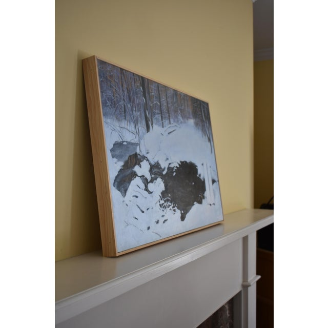 """White Stephen Remick """"Crossing Destruction Brook"""" Contemporary Painting For Sale - Image 8 of 12"""
