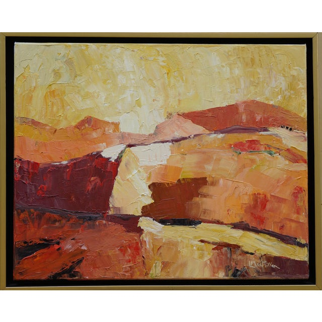 """Laurie MacMillan """"Red Hot"""" Abstract Landscape For Sale In Los Angeles - Image 6 of 6"""