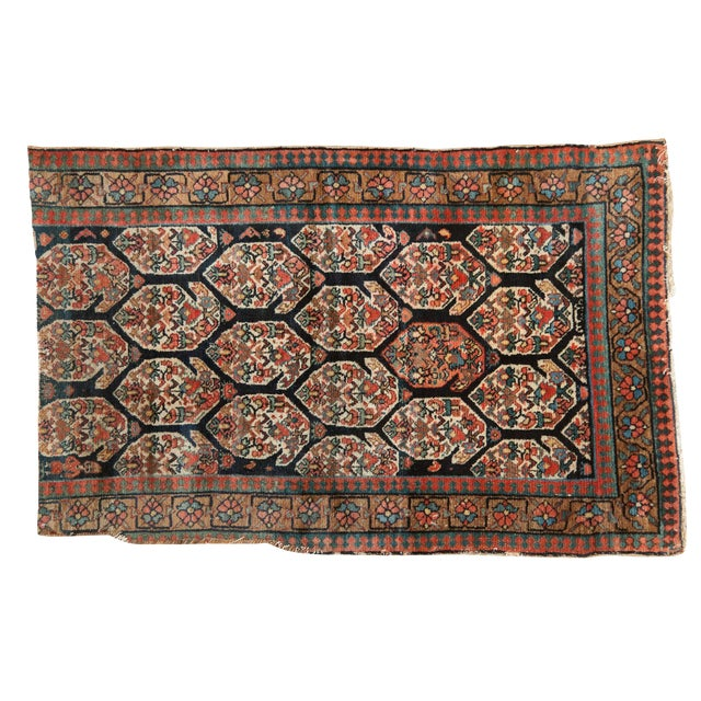 """Antique Fragment Northwest Persian Rug - 3'2"""" X 5' For Sale"""