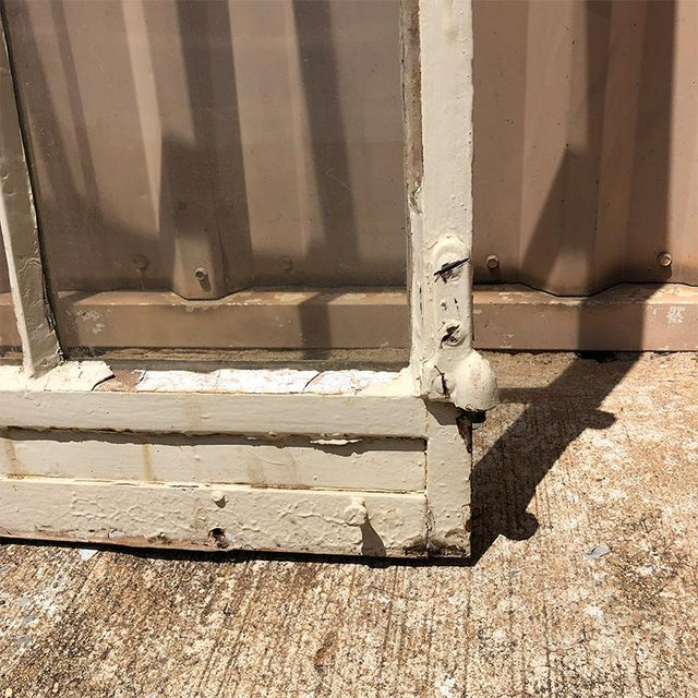 1920s Painted Steel Patio Door or Window 20 Pane Window or Door For Sale - Image 4 of 7