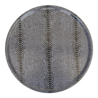 Snakeskin Birchwood Tray in Black For Sale