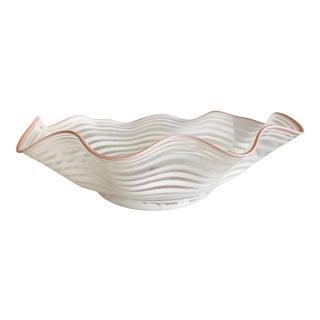 Large Ruffled Murano Bowl