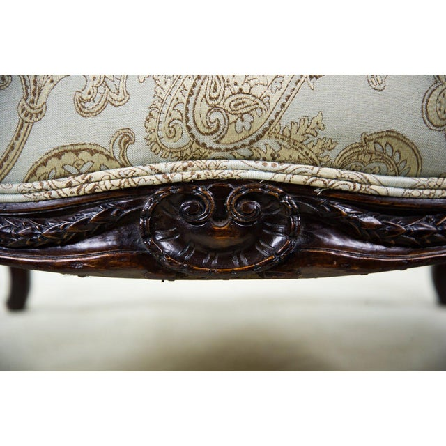 Brown 19th C. French Louis XV Style Low Bergere Chair For Sale - Image 8 of 11