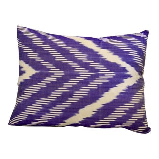 Purple Silk Ikat Throw Pillow For Sale
