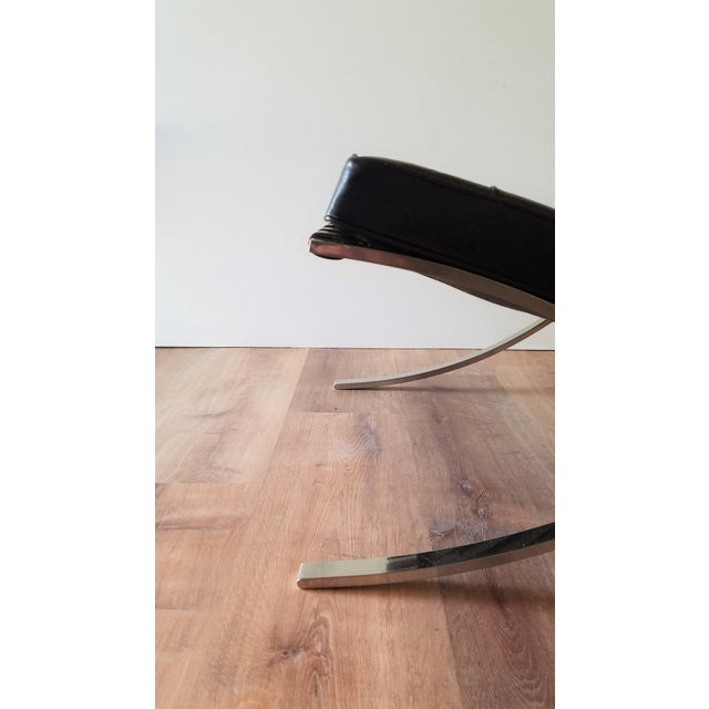 1970's Vintage Barcelona Chair by Knoll - a Pair For Sale - Image 10 of 13