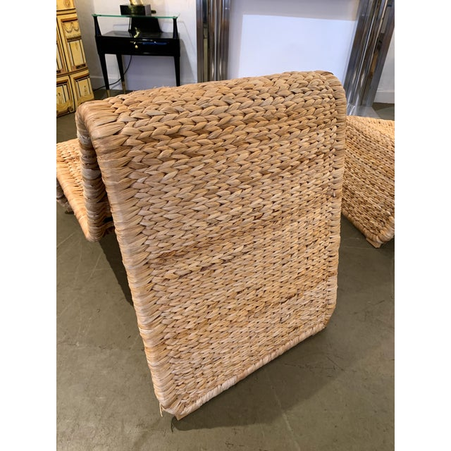 1980s Tito Agnoli P3 Rattan Lounge Chairs- a Pair For Sale - Image 6 of 12