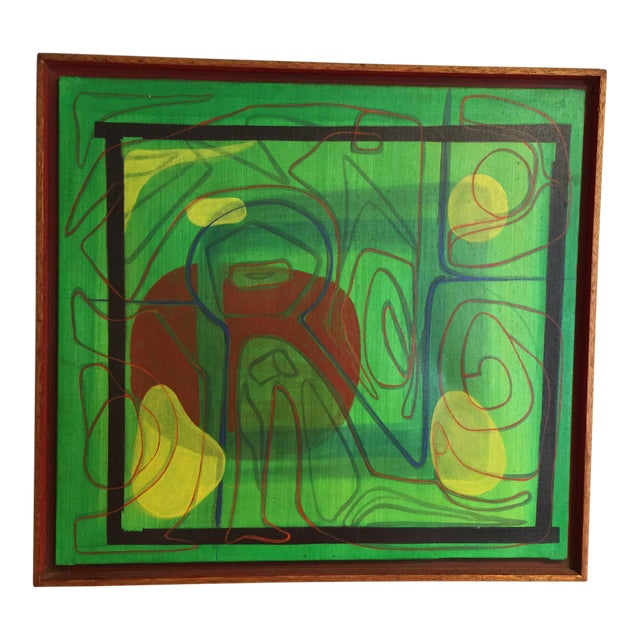 Mid-Century Modern Barbara Blume Abstract Painting - Image 1 of 8