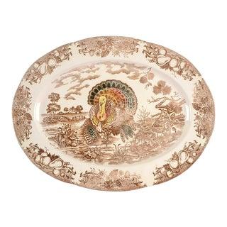 """1960s Japan 18"""" Oval Serving Platter For Sale"""