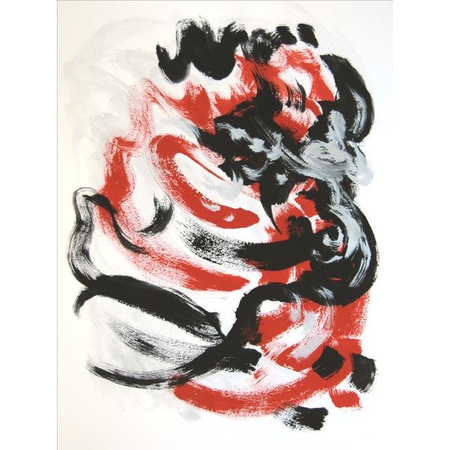 """""""Passion Flip #1"""" Abstract Painting by Cleo - Image 2 of 2"""