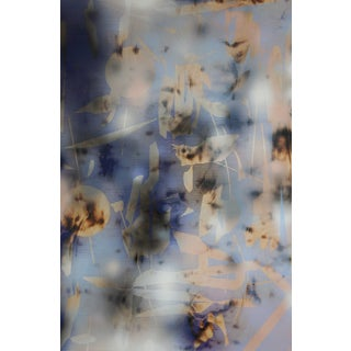 """""""Turbulence 15"""" Contemporary Abstract Spray Paint on Wood For Sale"""