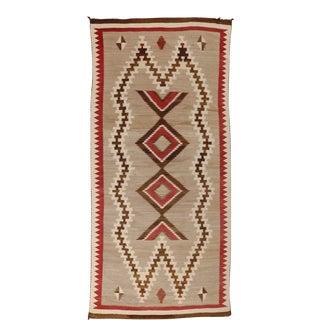 "Vintage Navajo Rug, 3'3"" X 6'11"" For Sale"