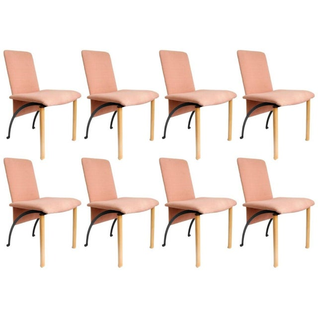 Metal Set of 8 Dining Chairs by Castelijn For Sale - Image 7 of 7