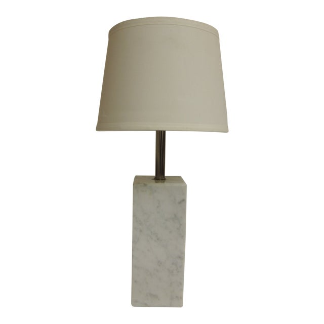 Mid century modern architectural square marble column table lamp mid century modern architectural square marble column table lamp for sale watchthetrailerfo