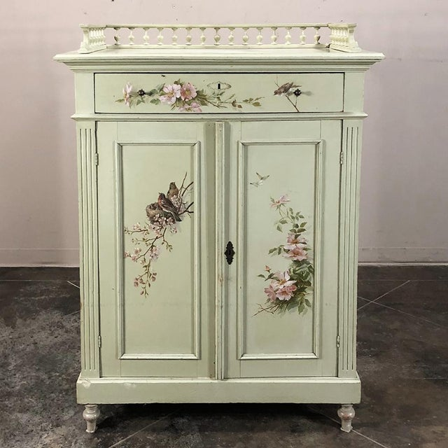 Antique Belle Epoque Painted Cabinet For Sale - Image 13 of 13