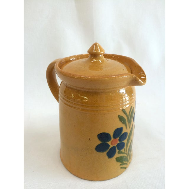 1920s French Yellow Ware Pitcher - Image 3 of 7
