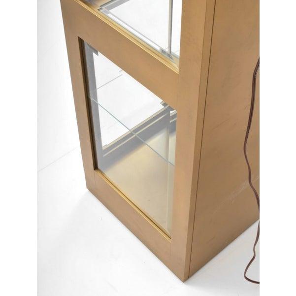 One Large Brass Mastercraft Vitrine Cabinet - Image 4 of 5