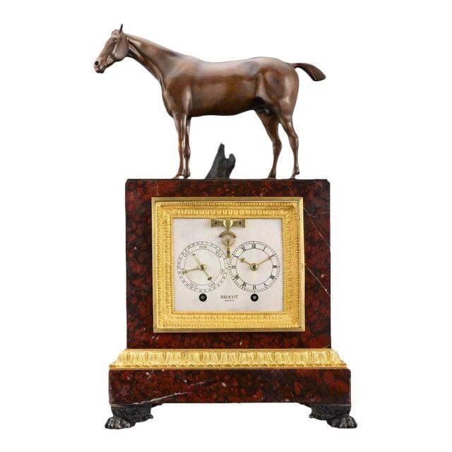 Napoleon III Sculptural Mantel Clock For Sale