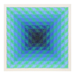 CTA Blue 2 by Victor Vasarely For Sale