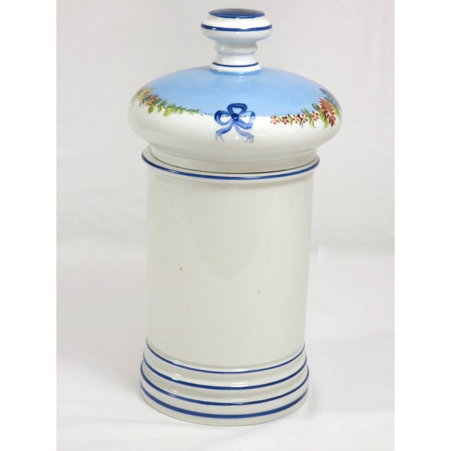 Antique French Porcelaine Apothicary Jar For Sale In Boston - Image 6 of 8