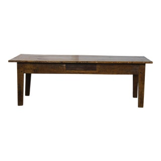 19th Century Rustic Pine Coffee Table For Sale
