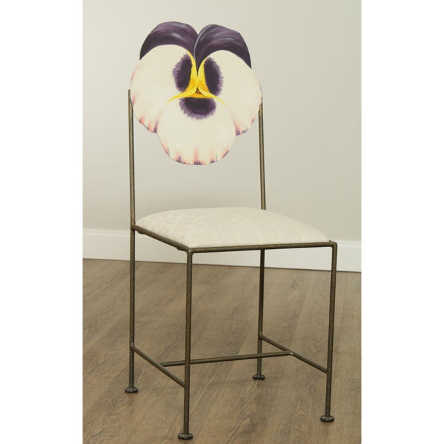 High Quality Hand Painted Metal Frame Side Chair Store Item#: 26773
