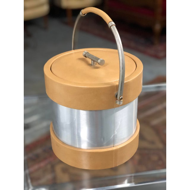 Taste Setter by Sigma Vintage Vinyl and Chrome Ice Bucket For Sale - Image 4 of 7