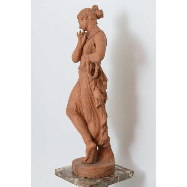 Neoclassical Neoclassical Greco-Roman Terracotta Garden Sculpture, France, 19th Century For Sale - Image 3 of 11