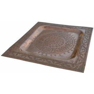 Handmade Copper Tray W/ Moorish Motif Preview