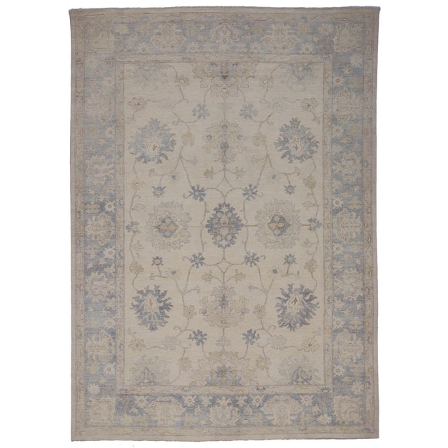Modern Oushak Style Rug - 9′9″ × 13′7″ For Sale - Image 5 of 5