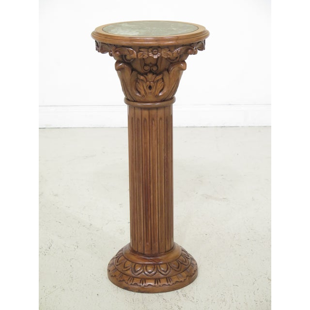 Marble Top Round Column Pedestal Stand For Sale In Philadelphia - Image 6 of 6