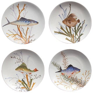 19th Century Fish Plates - Set of 4 For Sale