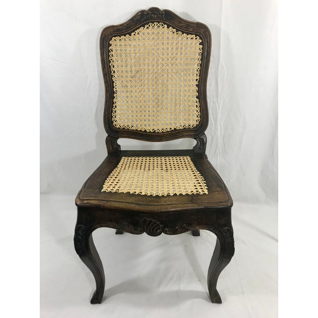 Wood Louis XV Period Side Chair For Sale - Image 7 of 7