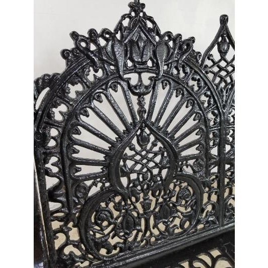 Antique American Cast Iron Park Bench For Sale In Los Angeles - Image 6 of 13