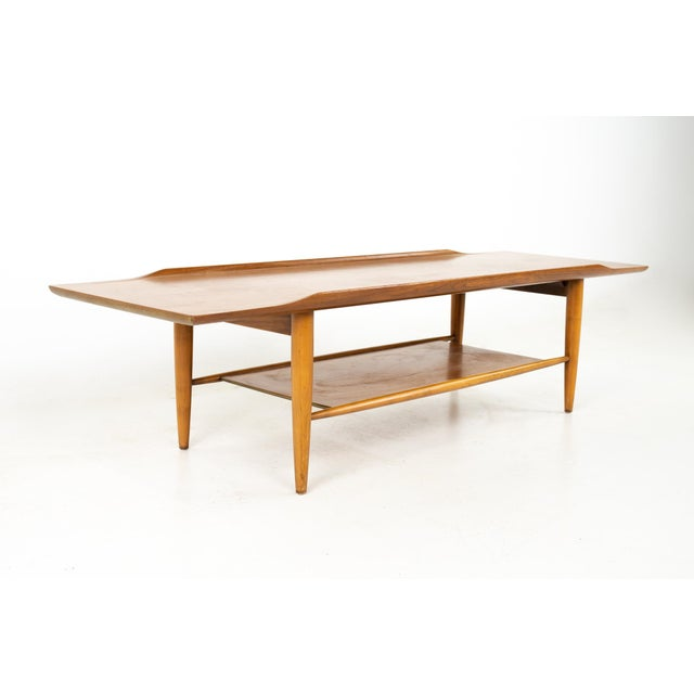 Grete Jalk Style Mersman Mid Century Surfboard Mahogany Coffee Table For Sale - Image 11 of 11