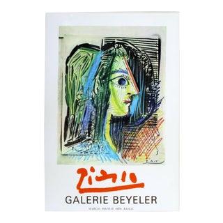 Mid Century Modern Unframed Pablo Picasso Galerie Beyeler 1970 Poster Paris For Sale