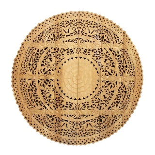 Large Round Natural Lotus Panel For Sale