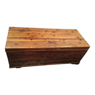 1960s Handcrafted Cedar Chest For Sale