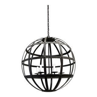 "Dessin Fournir Banded Orb Iron ""Lucet"" Chandelier For Sale"