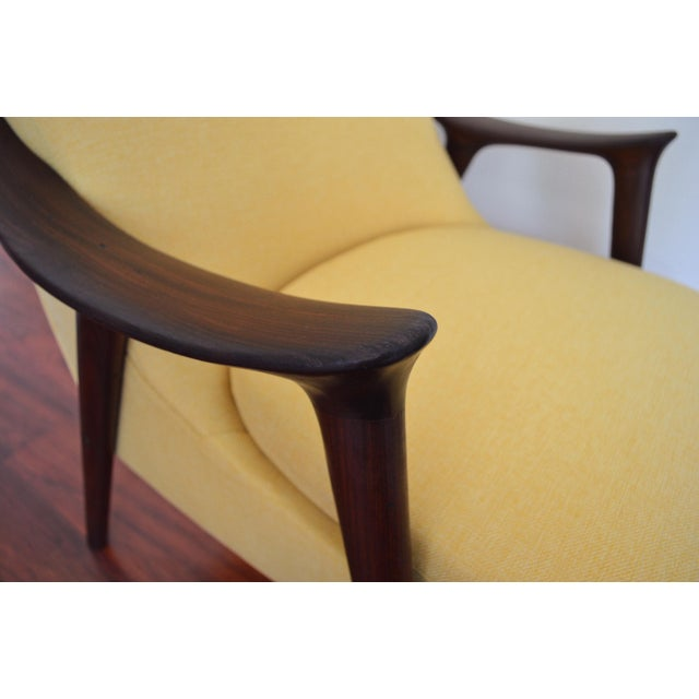 Fabric Møre Lenestolfabrikk Yellow Lounge Chair For Sale - Image 7 of 8