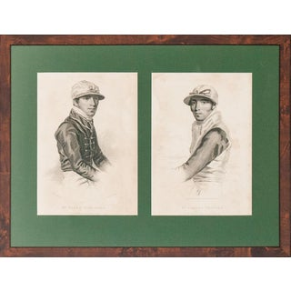 """Two Jockeys"" Framed Portraits For Sale"