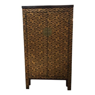 Chinoiserie Armoire With Brass Finishes