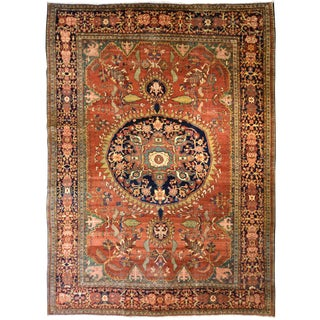 Antique Persian Sarouk Fereghan Carpet