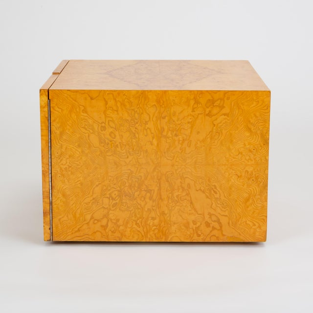 1970s Pair of Burl Wood Side Tables or Blanket Chests For Sale - Image 5 of 11