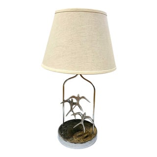 Mid Century Signed Curtis Jere Seagull Bird Lamp For Sale