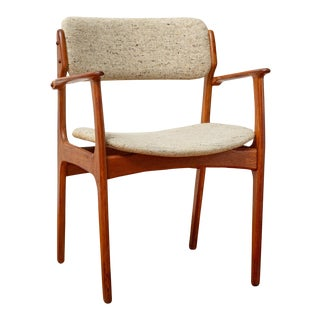 1960s Danish Modern Erik Buch o.d. Mobler Teak Armchair For Sale