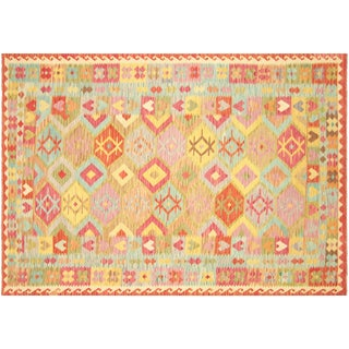"Nalbandian - Contemporary Afghan Maimana Kilim - 6'8"" X 9'7"" For Sale"