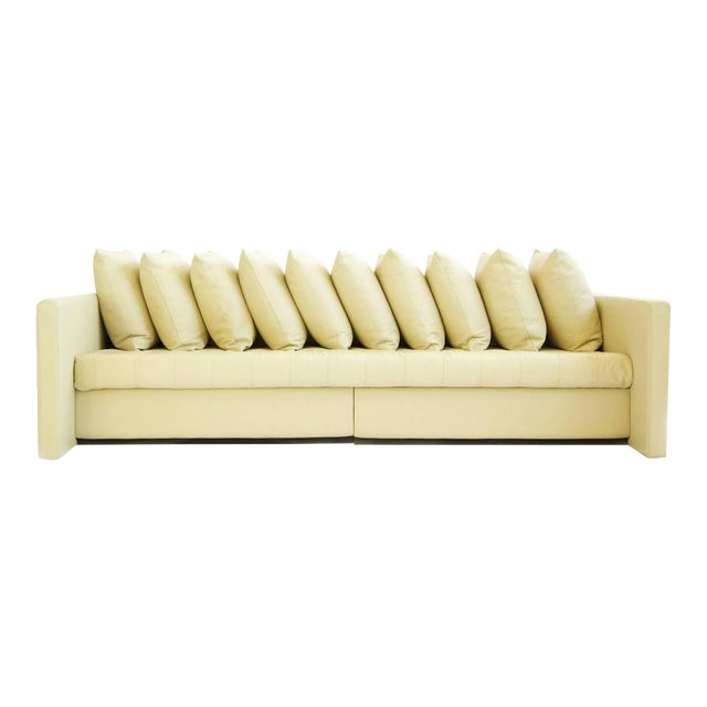 1980s Joe d'Urso For Knoll Linear Sofa in Leather For Sale