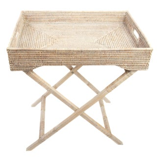Artifacts Rattan Butler Table For Sale