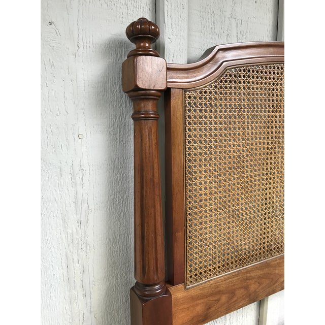 Kindel Furniture Walnut and Cane Twin Headboards by Kindel Furniture - a Pair For Sale - Image 4 of 10